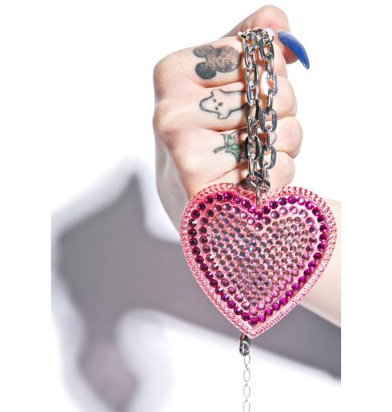 Tarina Tarantino Iconic Crystal Pavè Heart Necklace