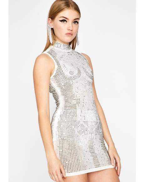 Catwalk Chic Rhinestone Dress