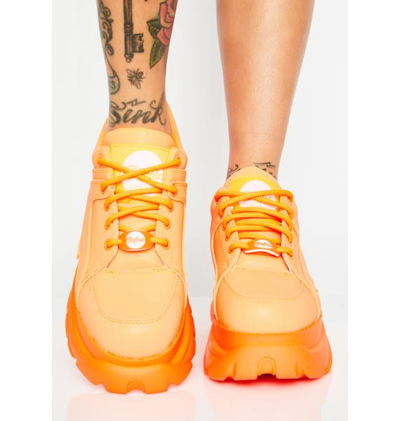 Buffalo London Juicy Classic Low Reflective Leather Sneakers