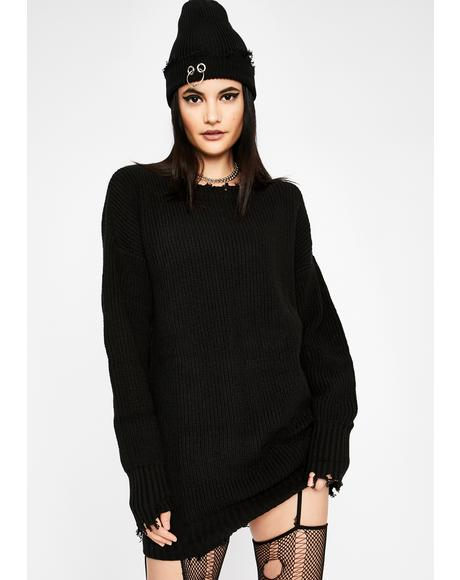 Blind Sensation Sweater Dress