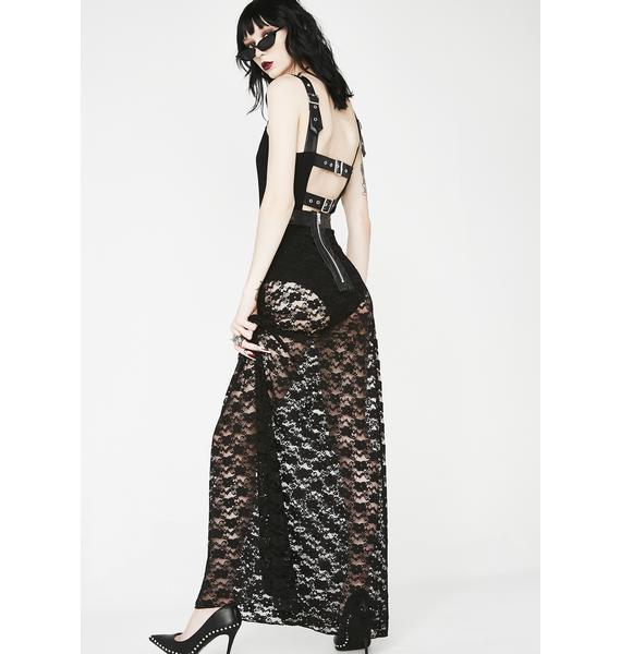 Necessary Evil Lydia Lace Maxi Skirt