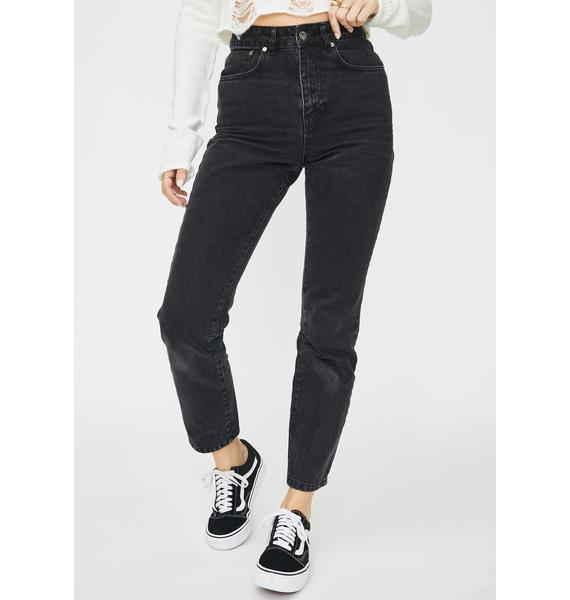 The Ragged Priest Charcoal Cougar Mom Jeans