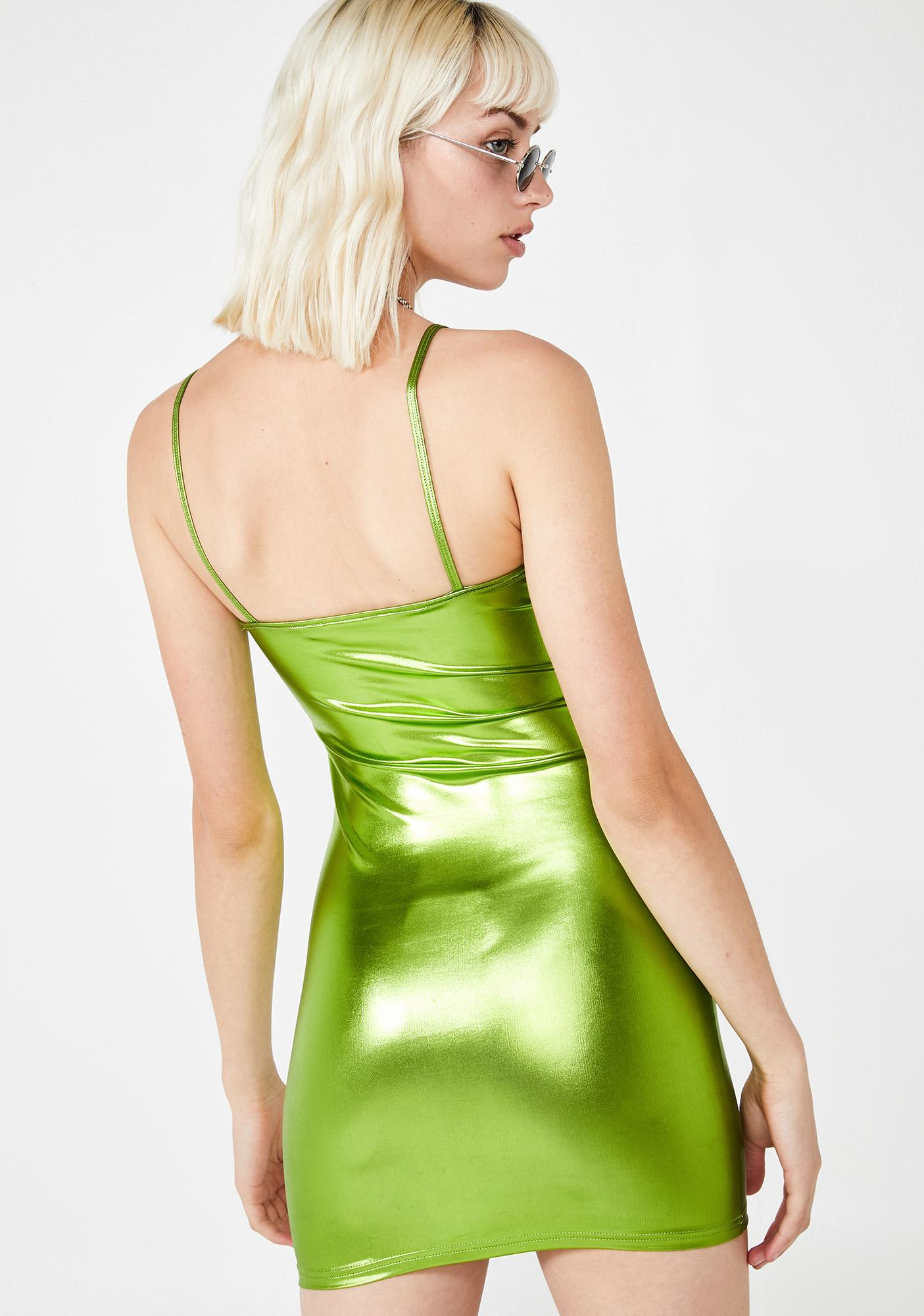 Motel Lime Selah Dress