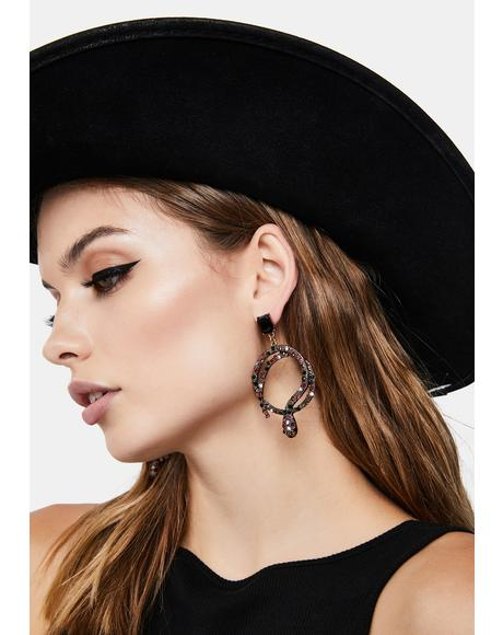 Strikingly Cruel Snake Earrings
