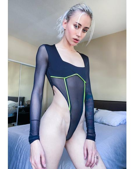 Sinna Hit The Club Mesh Bodysuit