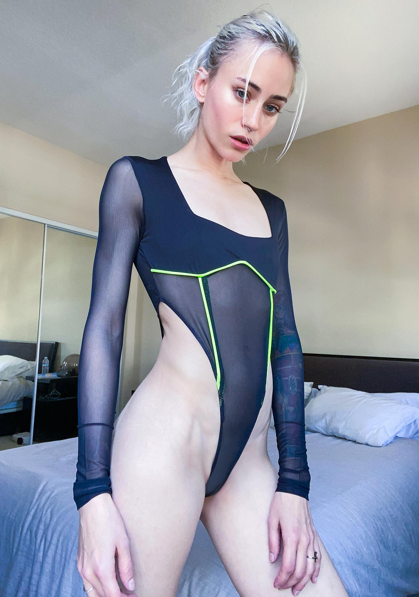 Sinna Hit The Club Mesh Bodysuit