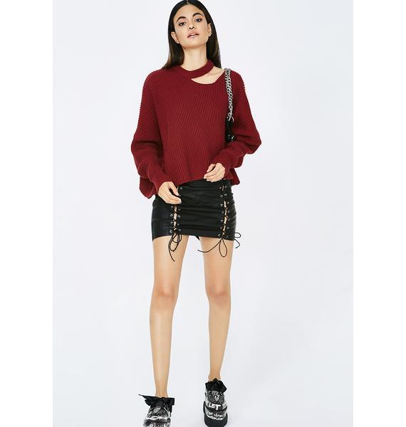 Unfabulous Cut-Out Sweater