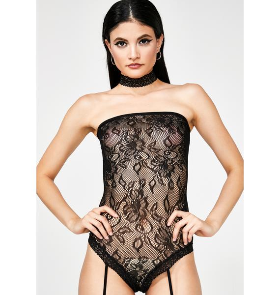 Midnight Majesty Garter Bodystocking