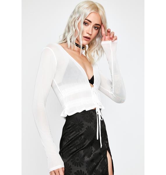 Icy Distracted Thots Sheer Top