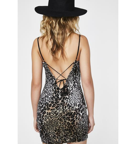 Sand Pretty Purrrfect Leopard Dress