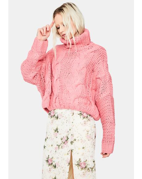 Burning Bridges Oversized Sweater