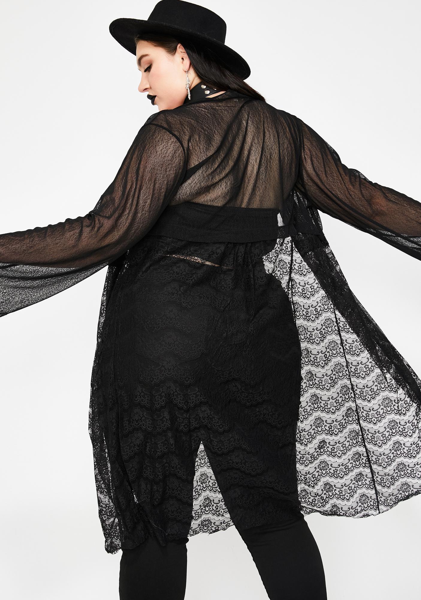 Dark Divination Lace Kimono