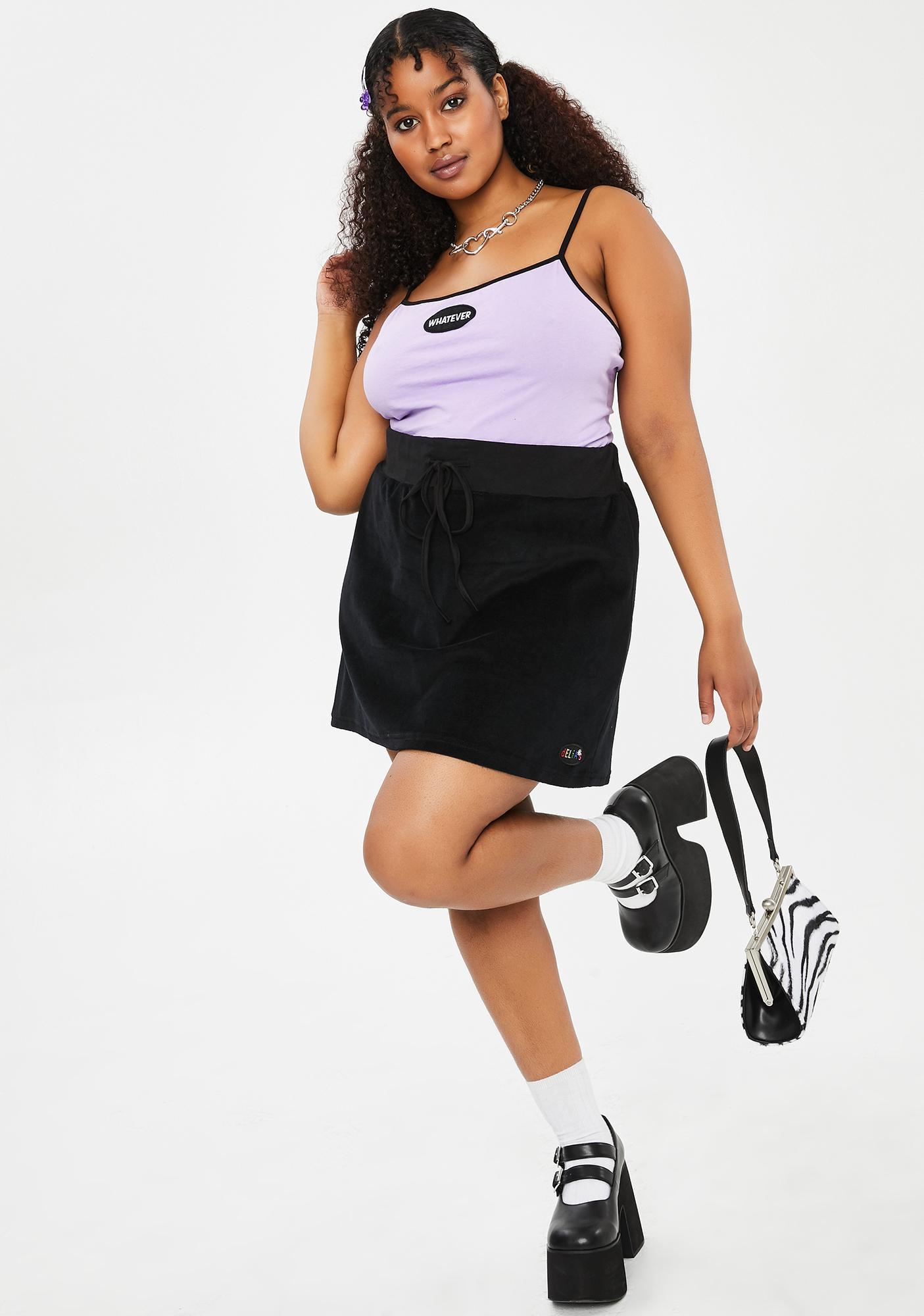 dELiA*s by Dolls Kill Her Secret Admirer Velour Skirt
