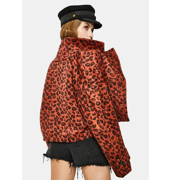 BB Dakota Wow Moment Leopard Jacket