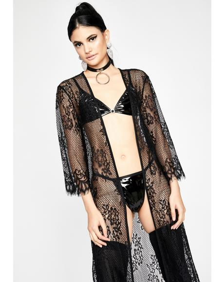 Mysterious Romance Lace Duster