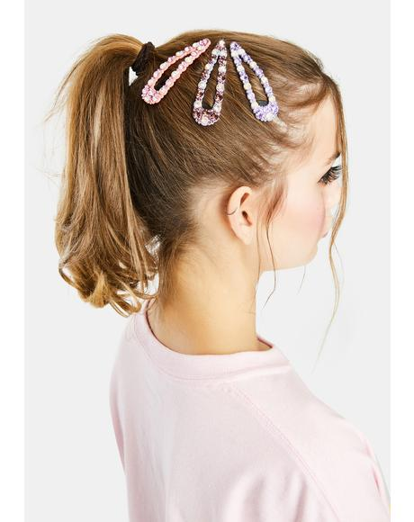 Make You Smile Rhinestone Hair Clips