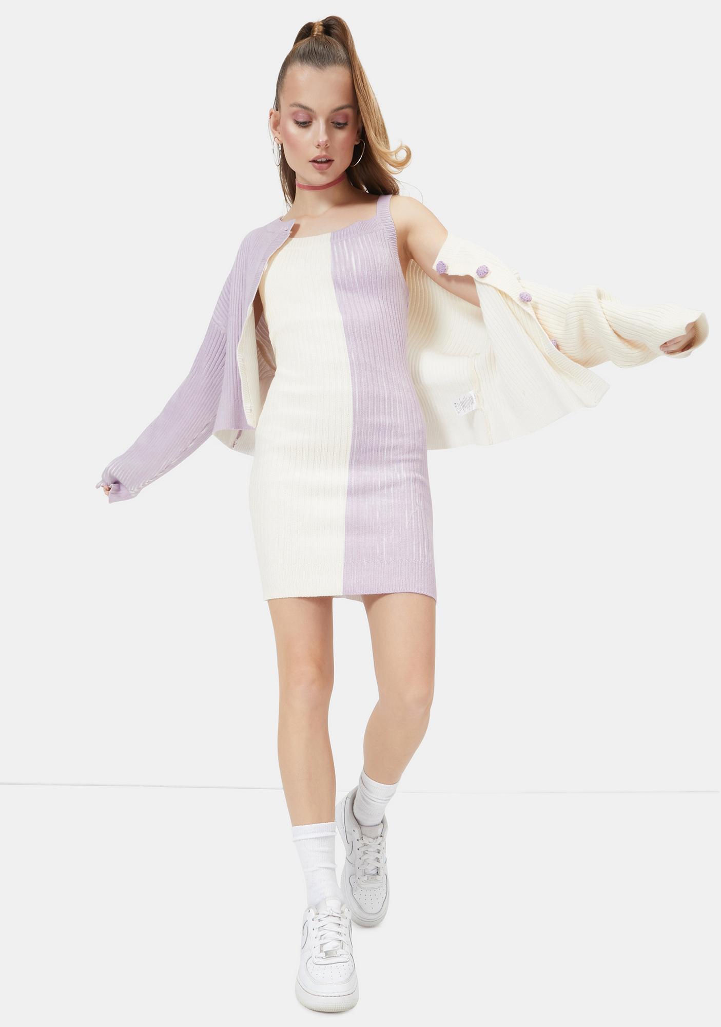 Hello Honey Two Tone Knit Dress
