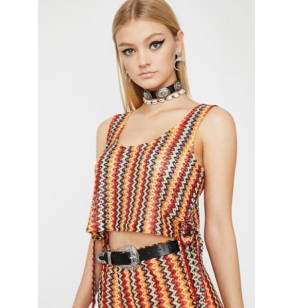 Golden Sunset Crochet Top