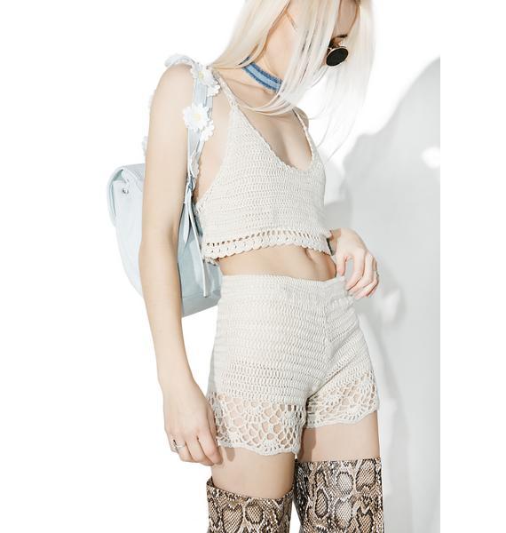 Lira Clothing Salinas Crochet Shorts