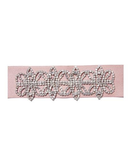All That Glam Satiny Rhinestone Choker