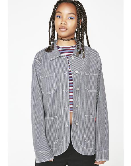 Hickory Stripe Chore Jacket