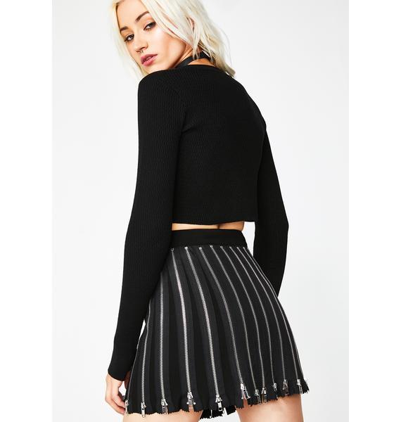 Current Mood Baddie Showcase Zip Skirt