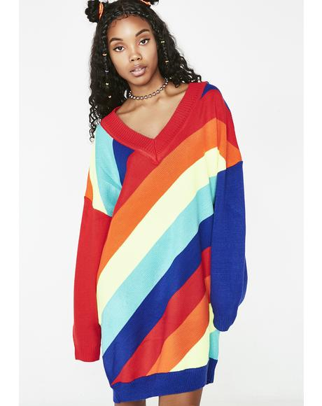 Kandy Bright Rainbow Sweater
