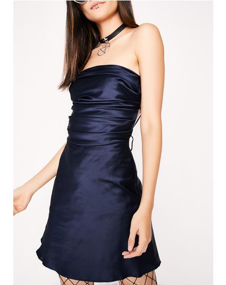 Midnight Silky Feel Dress