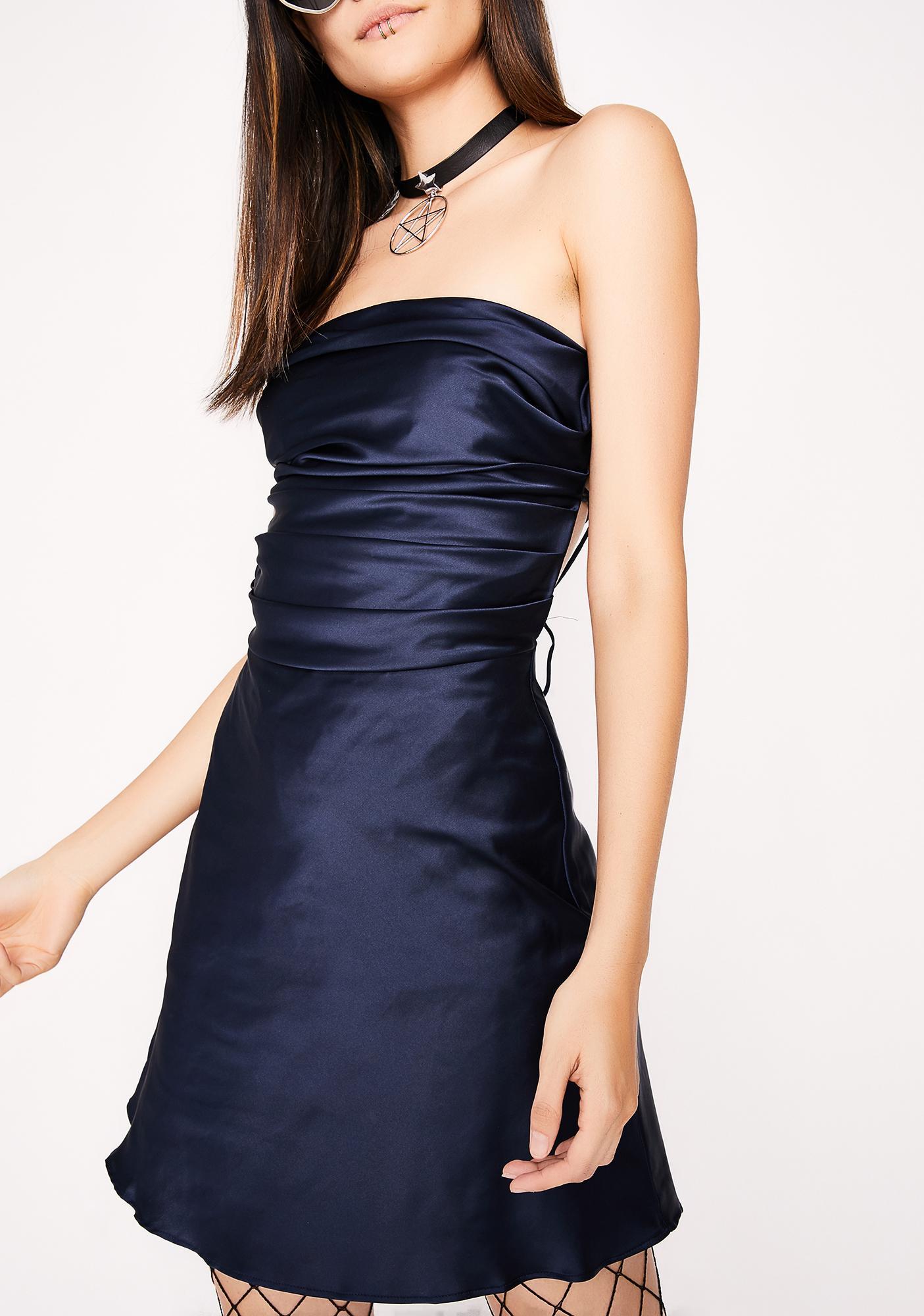 Midnight Silky Feel Dress
