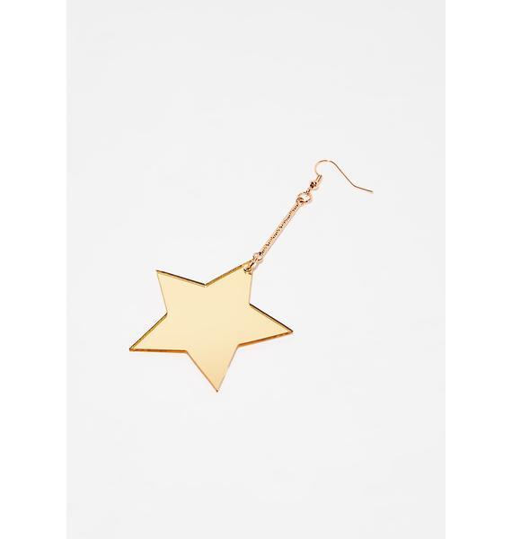 Disco Star Drop Earrings