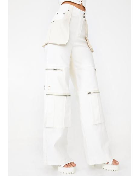 White Blaze Cargo Pants