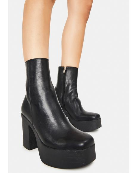 My Hero Platform Ankle Boots