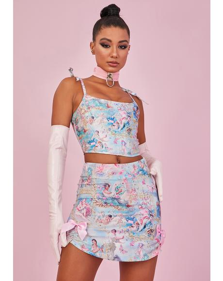 Divine Lush Opulence Crepe Mini Skirt