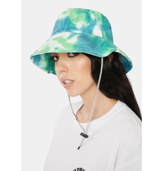 Juniper Trippy Love Tie Dye Bucket Hat