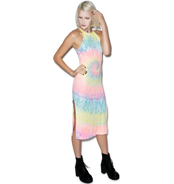 UNIF Tie Dye Off Duty Dress
