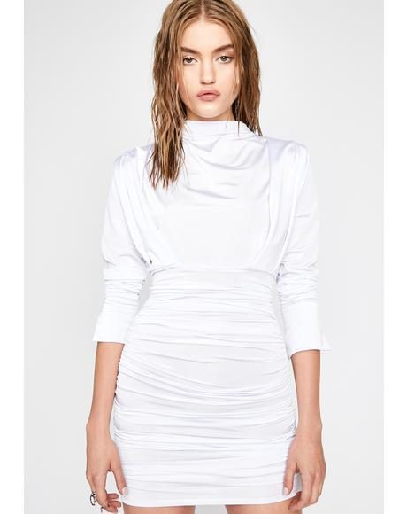 Glam Command Ruched Dress