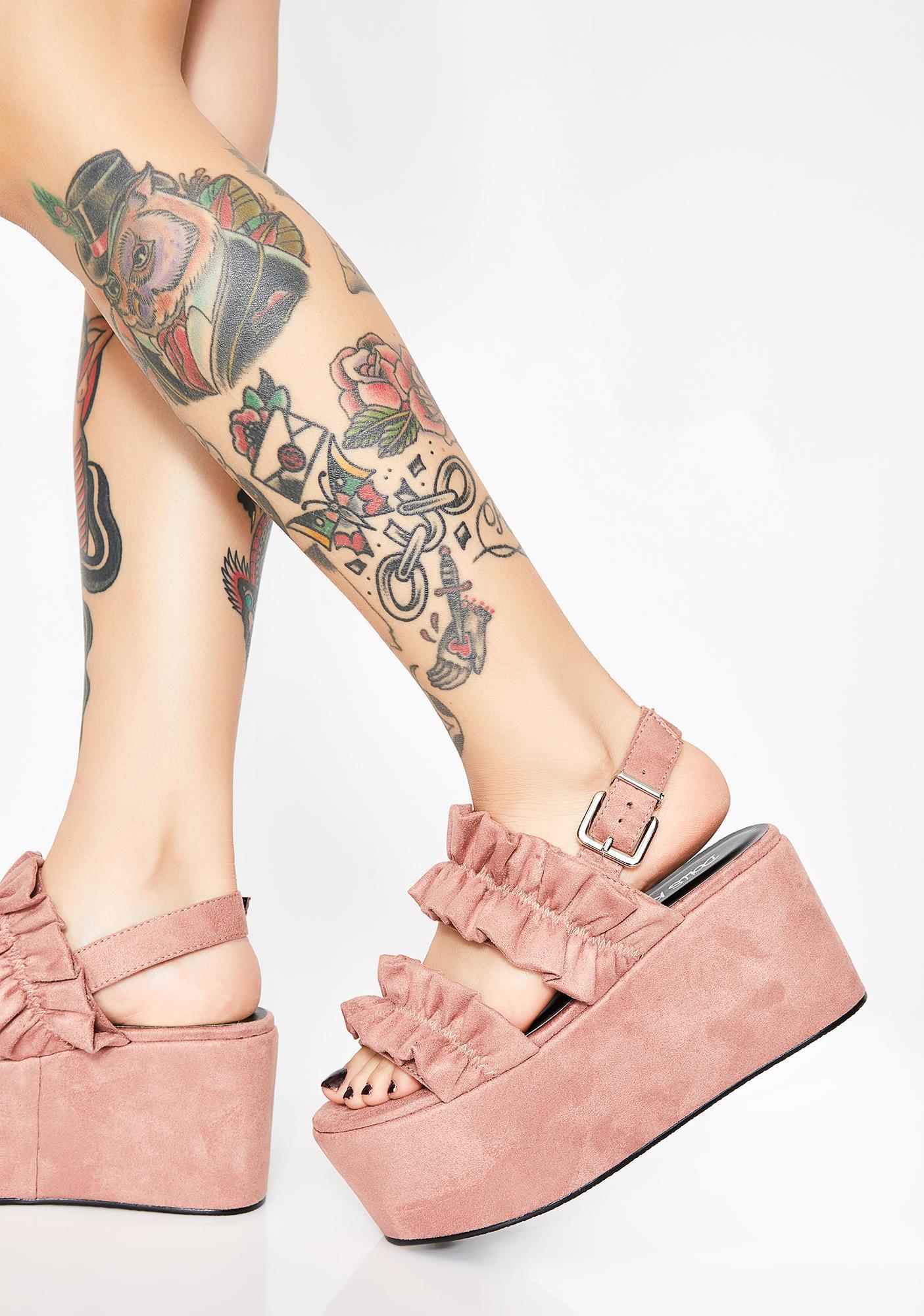 Ruffled Fate Platform Sandals