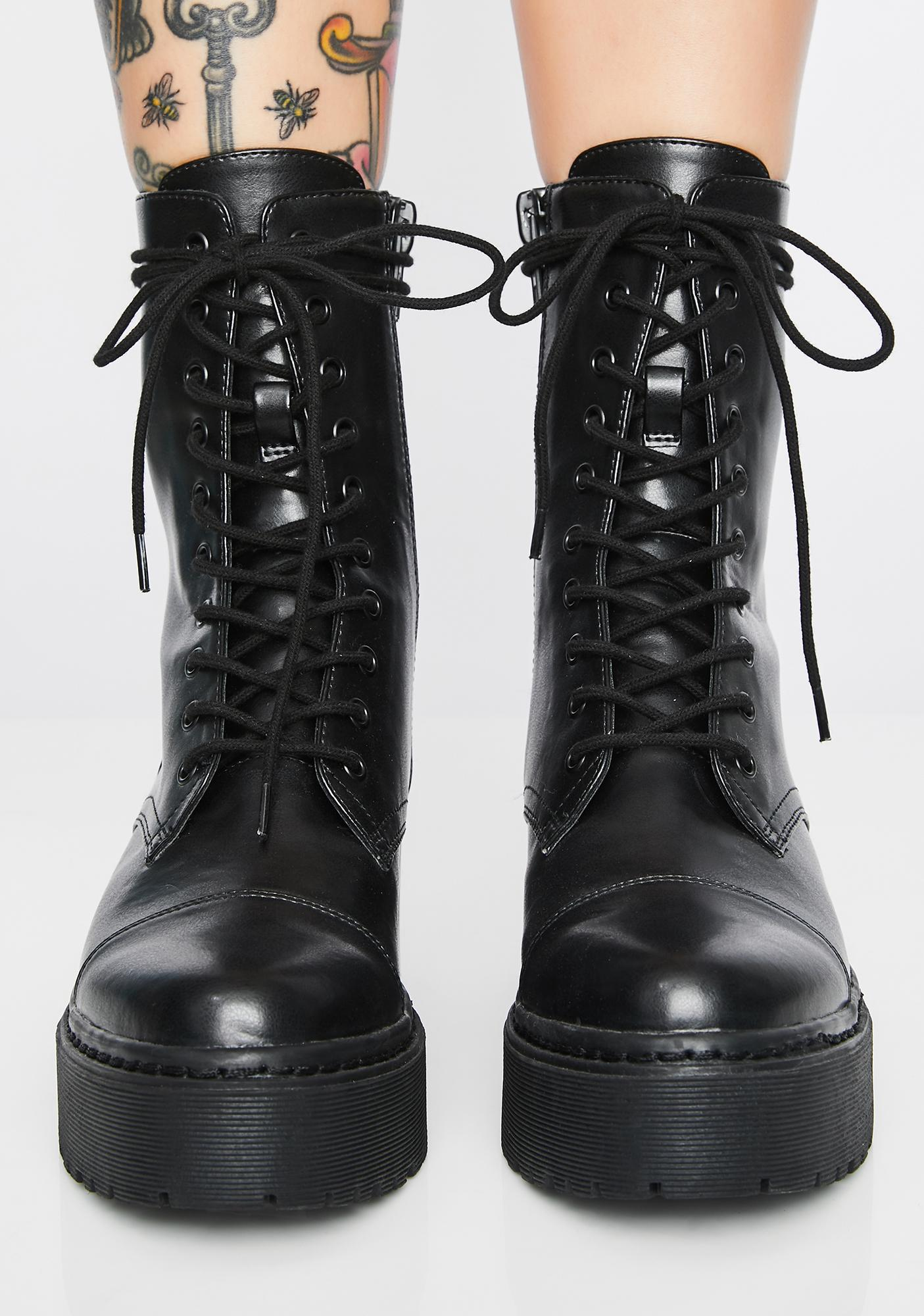 Current Mood Combat Mode Lace-Up Boots