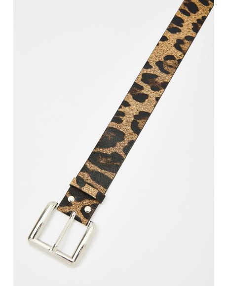 Serial Cheetah Buckle Belt