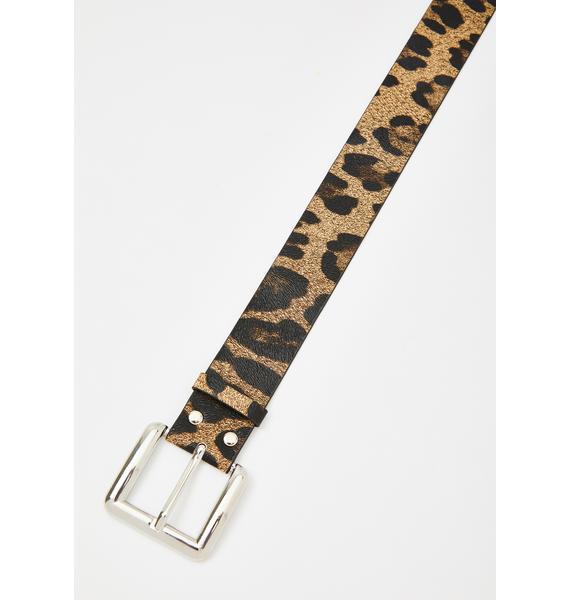 Serial Cheetah Buckle Belt