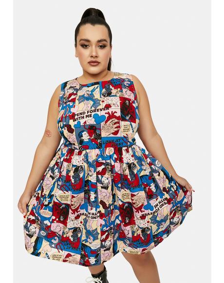Plus Love At First Bite Mini Dress