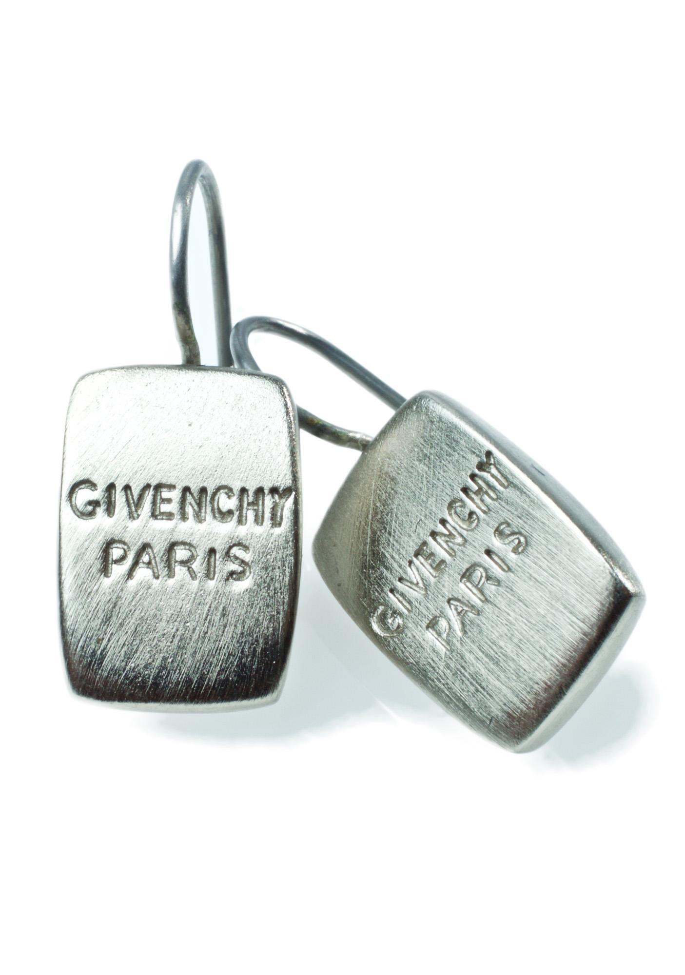 American Deadstock Givenchy Paris Logo Earrings