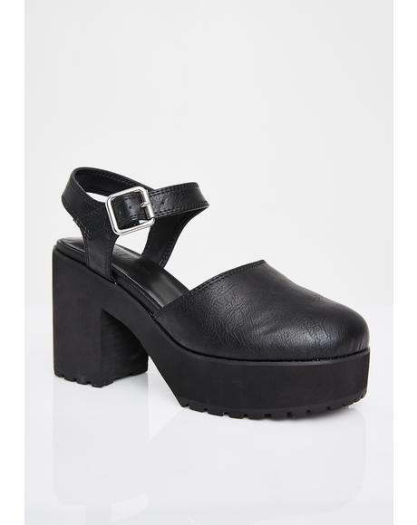 I Want It Now Platform Sandals
