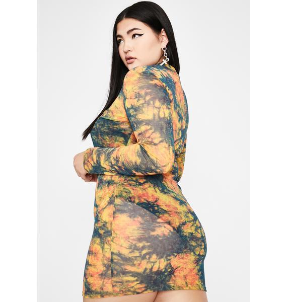 Mellow True Smoke Signals Mesh Dress