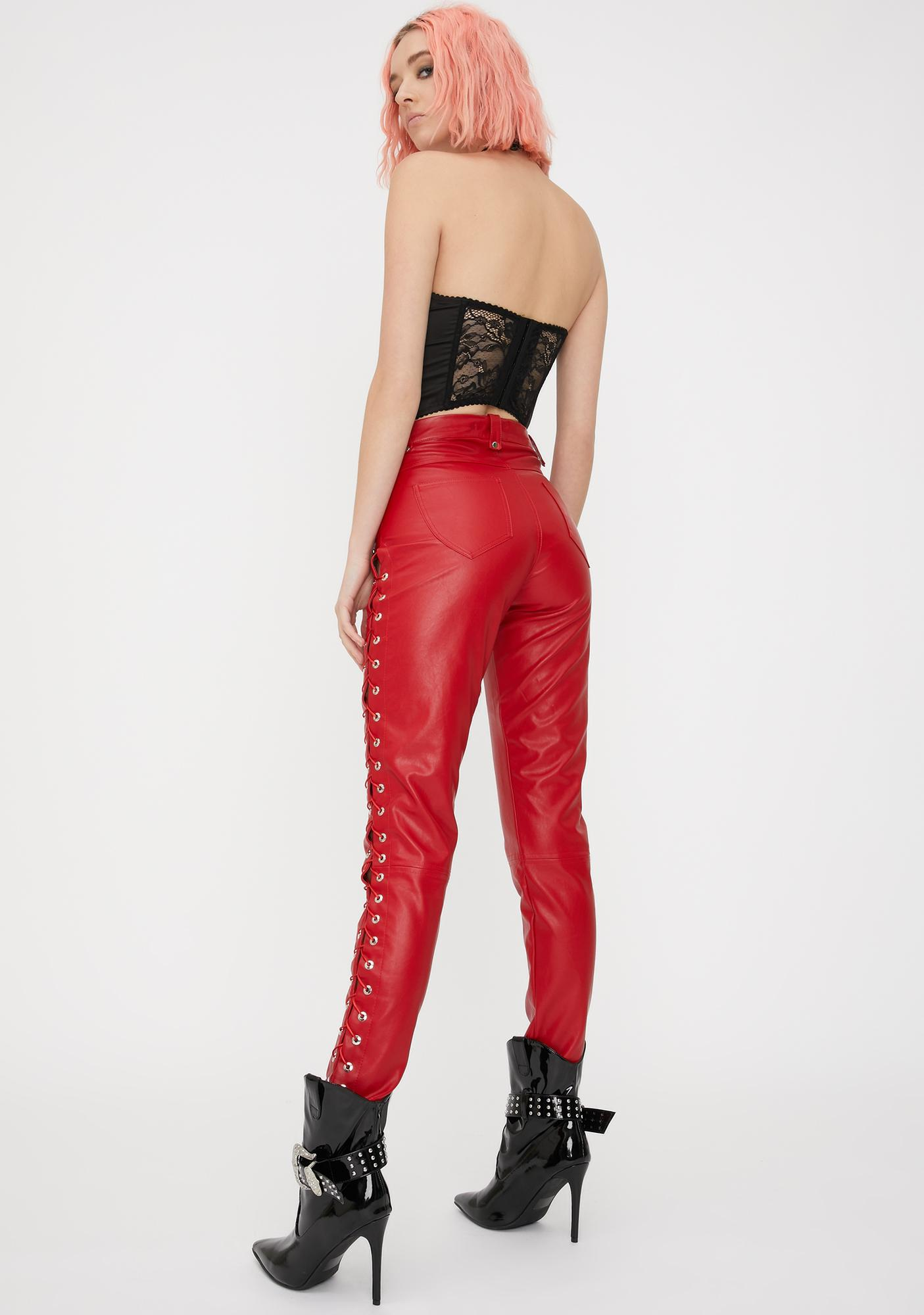 Kiki Riki Blaze Settle The Score Leather Pants