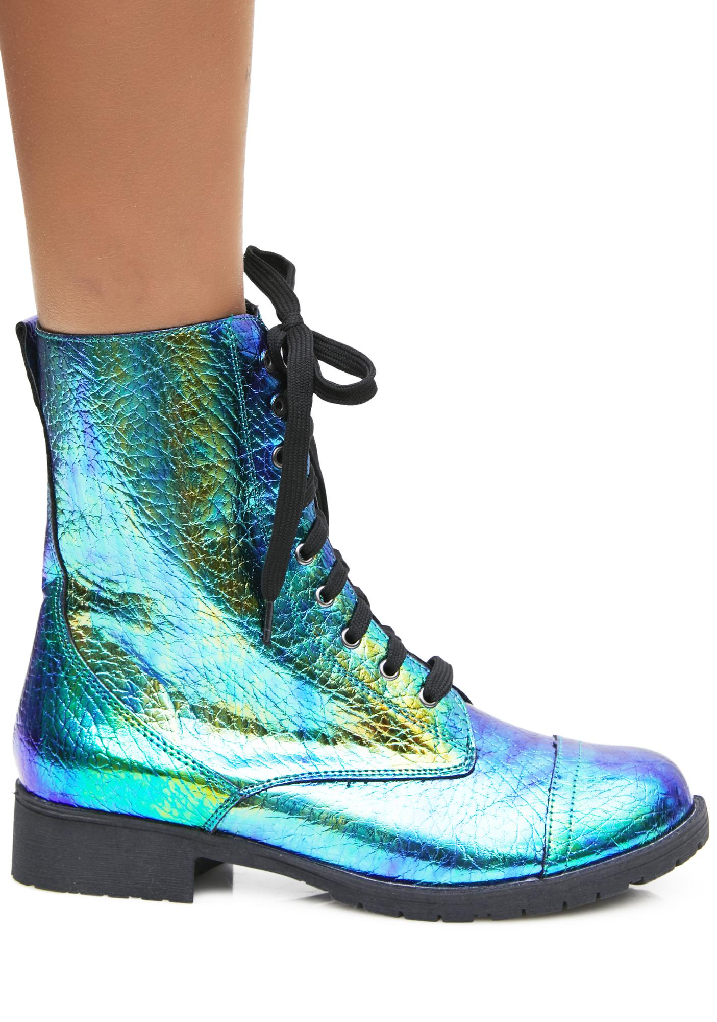 cheap sale largest supplier 100% original for sale Mermaid Tears Combat Boots clearance wide range of bjVgGdn7d7