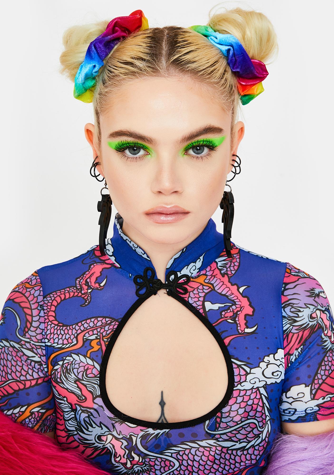 Kinetic Cartwheel Rainbow Scrunchies