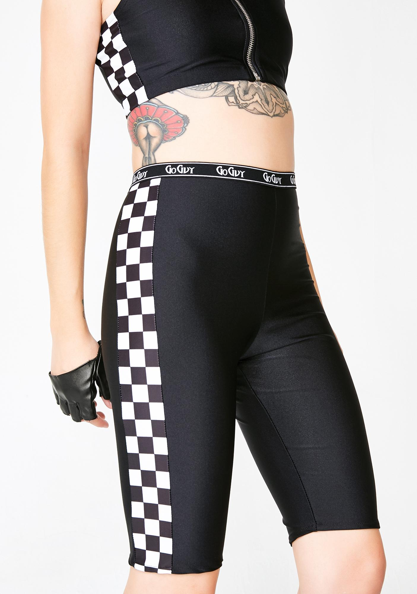 GoGuy Checkerboard Panel Cycling Shorts