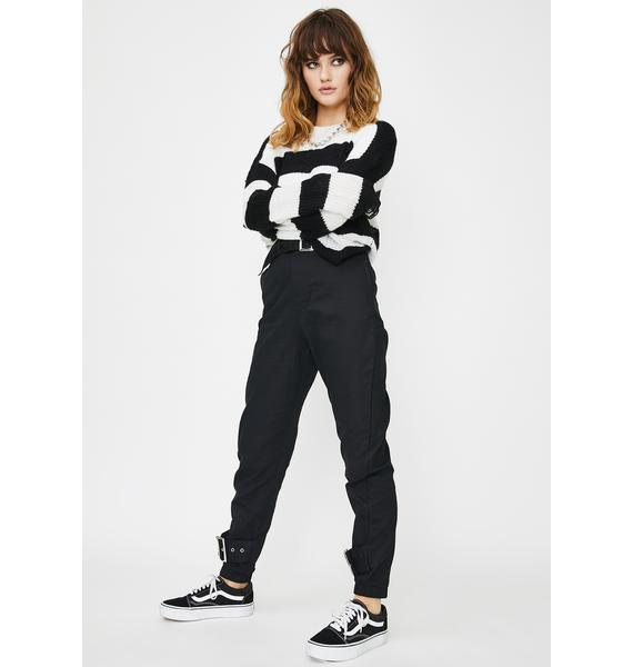 Daisy Street Square Buckle Slim Trousers