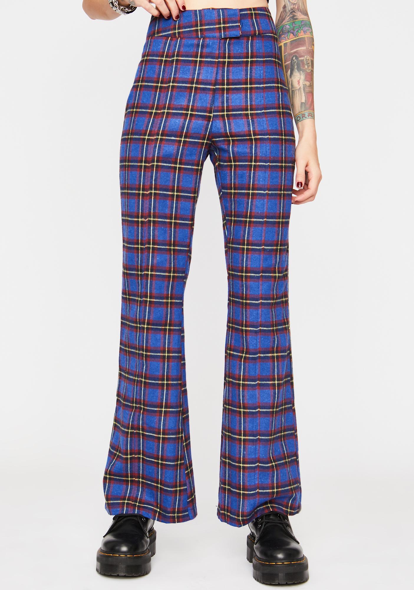 Deep On Repeat Plaid Pants